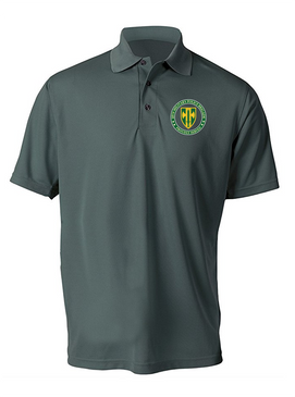 18th Military Police Brigade Embroidered Moisture Wick Polo Shirt -Proud