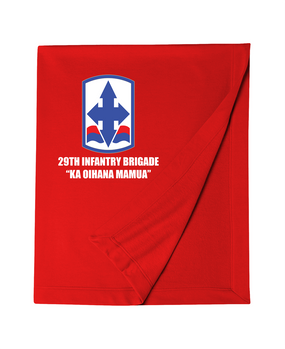 29th Infantry Brigade Embroidered Dryblend Stadium Blanket