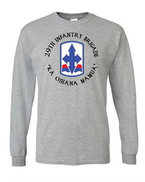 29th Infantry Brigade Long-Sleeve Cotton T-Shirt (C)(FF)
