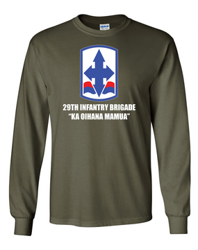 29th Infantry Brigade Long-Sleeve Cotton T-Shirt (FF)