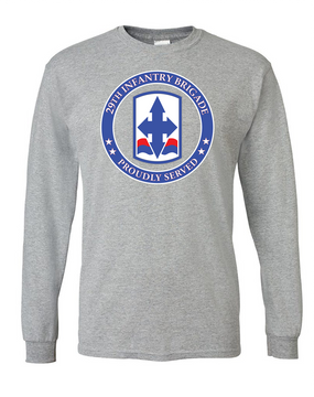 29th Infantry Brigade Long-Sleeve Cotton T-Shirt -Proud (FF)