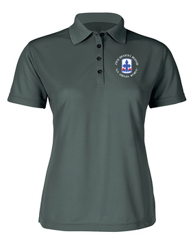 29th Infantry Brigade Ladies Embroidered Moisture Wick Polo Shirt (C)