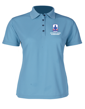 29th Infantry Brigade Ladies Embroidered Moisture Wick Polo Shirt