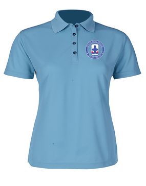 29th Infantry Brigade Ladies Embroidered Moisture Wick Polo Shirt -Proud