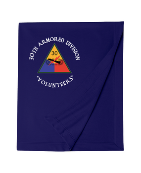 30th Armored Division Embroidered Dryblend Stadium Blanket  (C)