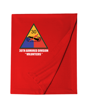 30th Armored Division Embroidered Dryblend Stadium Blanket