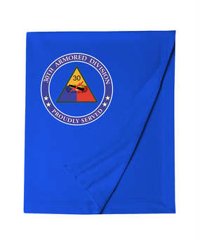 30th Armored Division Embroidered Dryblend Stadium Blanket -Proud