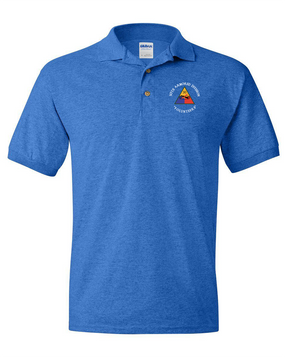 30th Armored Division Embroidered Cotton Polo Shirt  (C)