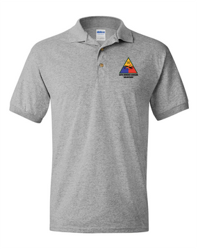 30th Armored Division Embroidered Cotton Polo Shirt
