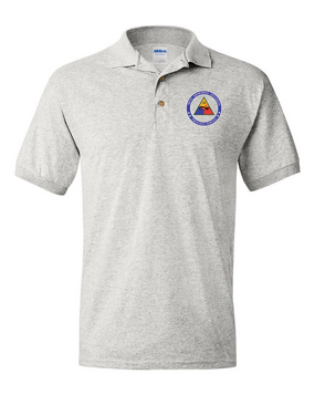 30th Armored Division Embroidered Cotton Polo Shirt  -Proud