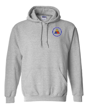 30th Armored Division Embroidered Hooded Sweatshirt -Proud