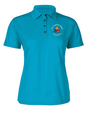 30th Armored Division Ladies Embroidered Moisture Wick Polo Shirt (C)