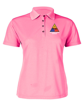 30th Armored Division Ladies Embroidered Moisture Wick Polo Shirt