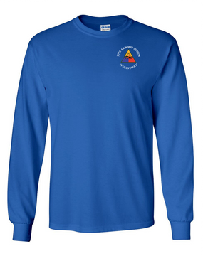 30th Armored Division Long-Sleeve Cotton T-Shirt (C)