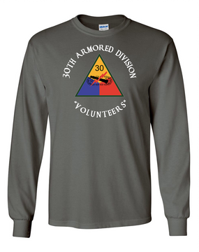 30th Armored Division Long-Sleeve Cotton T-Shirt (C)(FF)