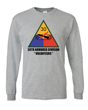 30th Armored Division Long-Sleeve Cotton T-Shirt (FF)