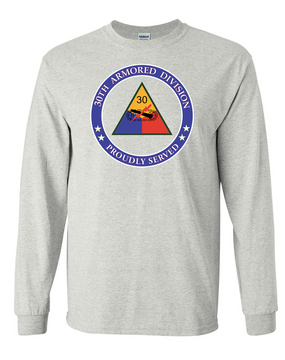 30th Armored Division Long-Sleeve Cotton T-Shirt -Proud (FF)