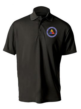 30th Armored Division Embroidered Moisture Wick Polo Shirt -Proud