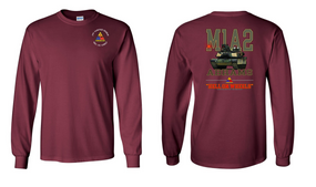 2nd Armored Division Long-Sleeve Cotton T-Shirt (F)