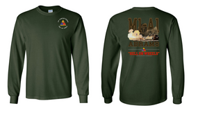 2nd Armored Division Long-Sleeve Cotton T-Shirt (S)