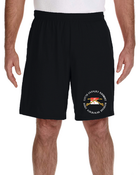2/17th  Cavalry Regiment Embroidered Gym Shorts  (C)