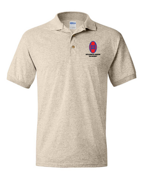 30th Infantry Division Embroidered Cotton Polo Shirt