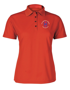 30th Infantry Division Ladies Embroidered Moisture Wick Polo Shirt (C)