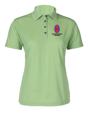 30th Infantry Division Ladies Embroidered Moisture Wick Polo Shirt