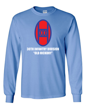30th Infantry Division Long-Sleeve Cotton T-Shirt (FF)