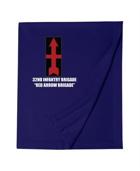 32nd Infantry Brigade Embroidered Dryblend Stadium Blanket