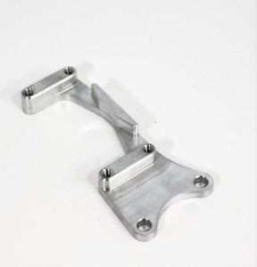 Natural Finish Adjustable Bearing Hanger Brake Bracket - Rear by SKE Karts