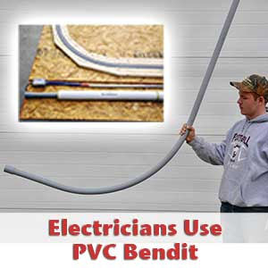 PVC conduit bending tool electricians use
