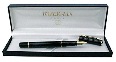 Personalized waterman writing instrument with first and last name or initials