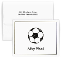 Personalized sports themed stationary set with first and last name and optional return address on envelope