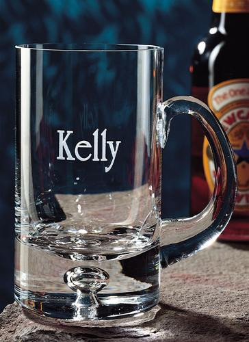 Personalized 14oz beer mug engraved with recipients name