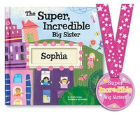 Personalized storybook rewarding a big sister for helping out and reassuring her she is loved and appreciated