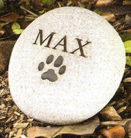 Personalized garden stones to remember a pet with up to two lines of engraving