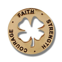 Engraved coin with inspirational words that seeks to lift the spirits of those who are ill or recovering
