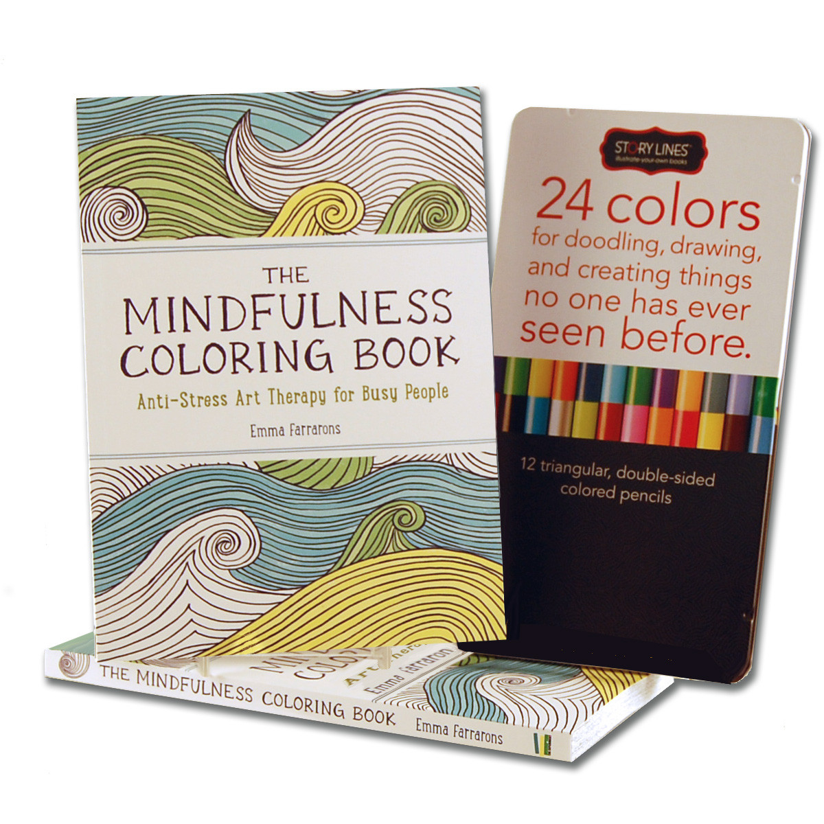 Personalized coloring book for adults with 70 unique patterns and customizable book cover imprint and first page
