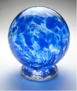 Hand blown glass gratitude globe designed to hold notes of gratitude, dreams, blessings, wishes and thank yous