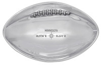 Mariposa The Bold North football candy/nut dish