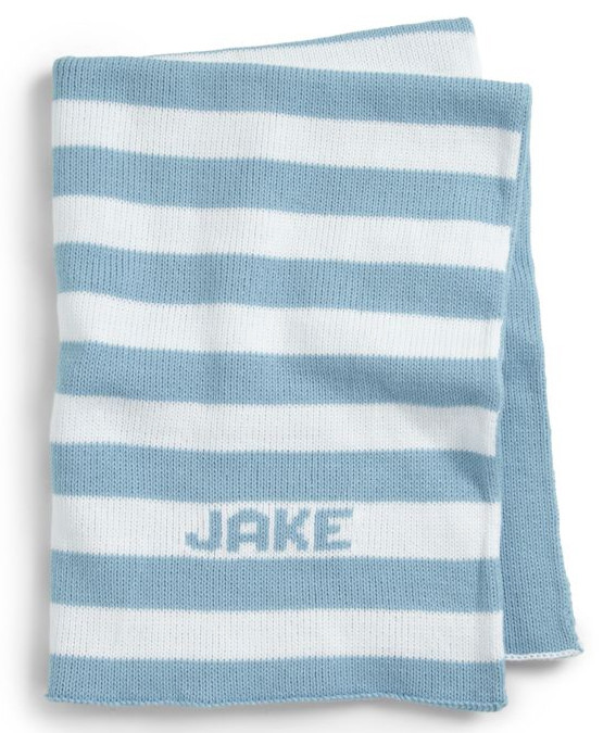 Personalized knit blanket