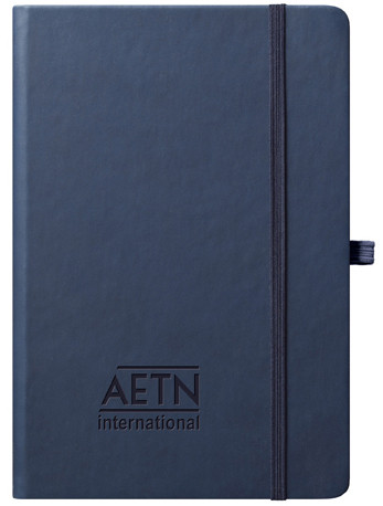 navy journal with logo cover