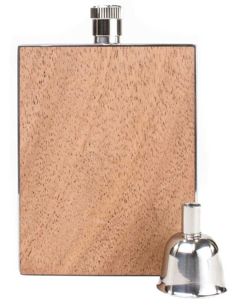 Personalized flask - Mahagony