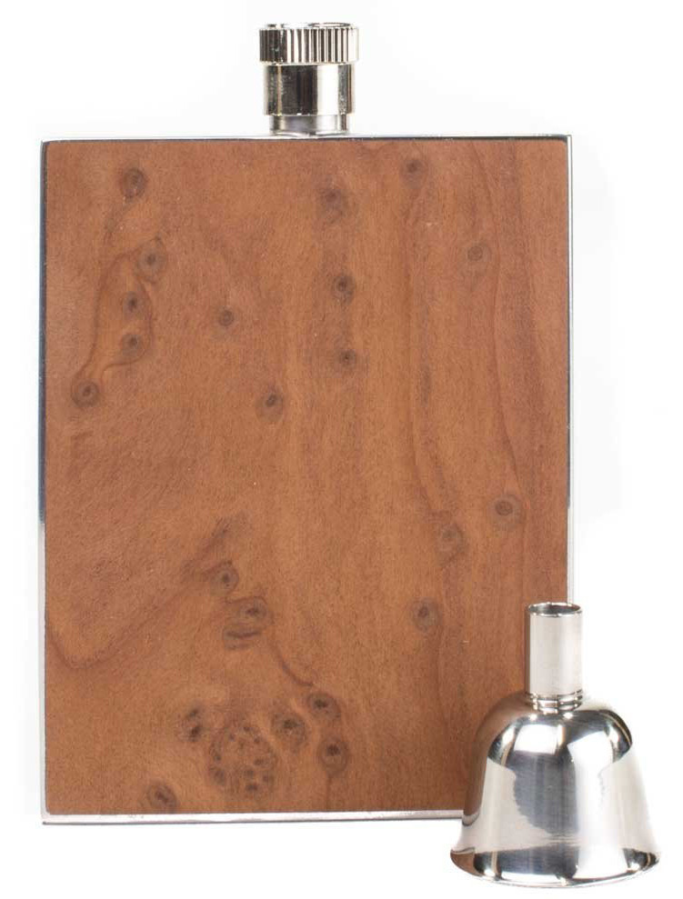Personalized flask - Redwood Burl