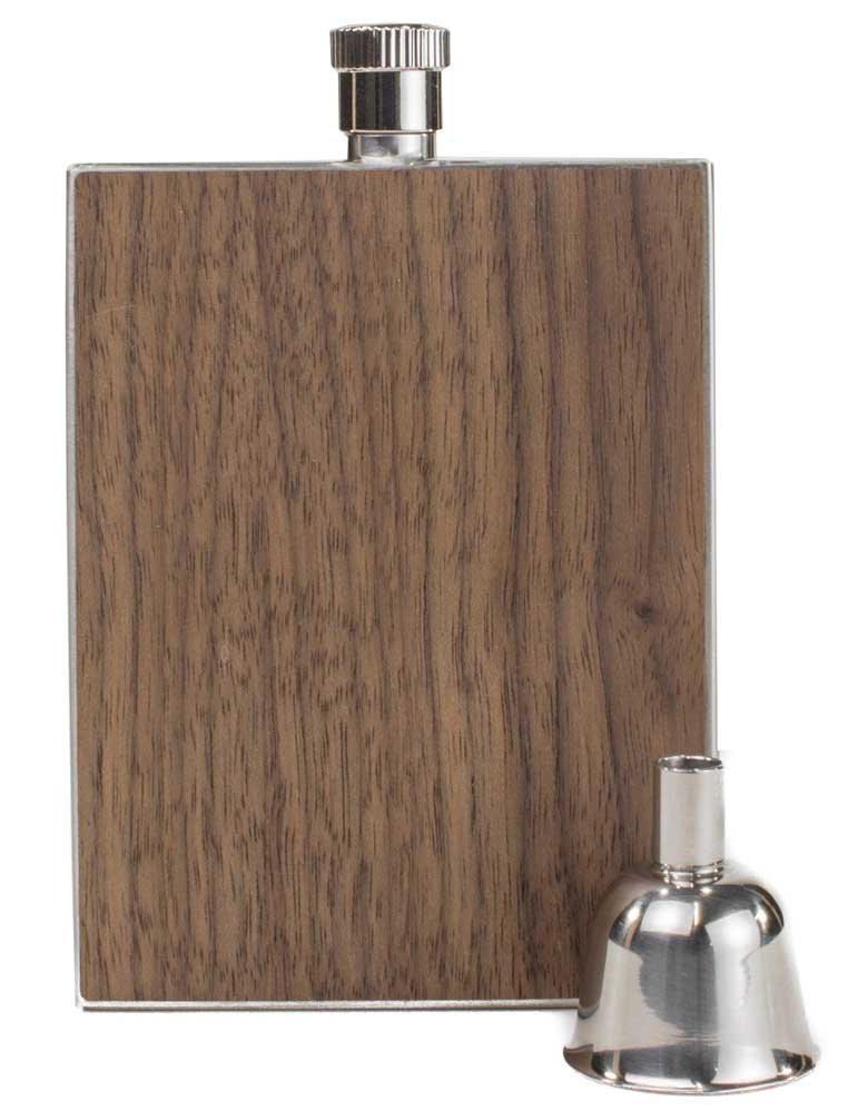 Personalized flask - Walnut