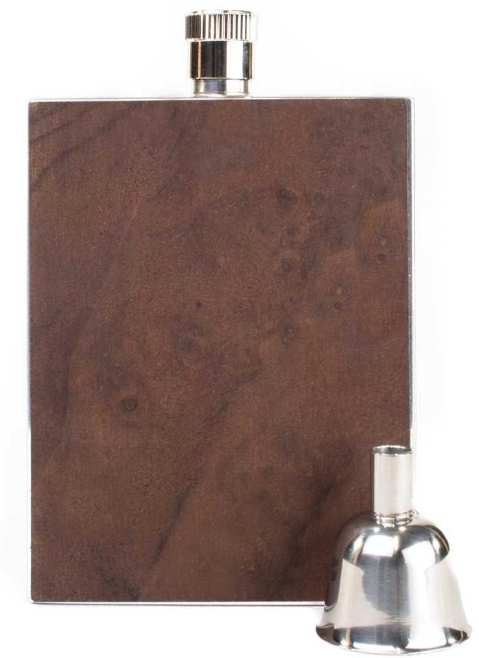 Personalized flask - Walnut Burl