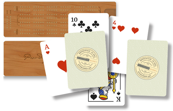 Customized Cribbage Board and Customized Playing Cards
