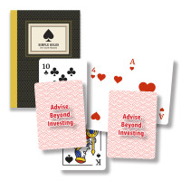 Customized playing cards and book of card games