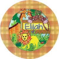 personalized melamine plate jungle